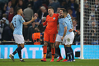 The Manchester City players celebrate victory at the end of the Carabao Cup Final match between Chelsea and Manchester City at Stamford Bridge on February 24th 2019 in London, England. (Photo by Paul Chesterton/phcimages.com)<br /> Foto PHC Images / Insidefoto <br /> ITALY ONLY