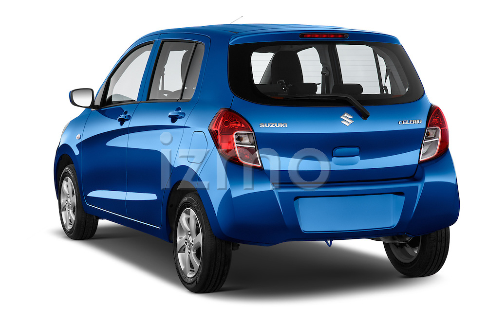 Car pictures of rear three quarter view of a 2015 Suzuki CELERIO Grand Luxe Xtra 5 Door Hatchback Angular Rear