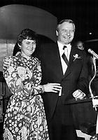 William (Bill) Davis and wife Kathleen<br /> <br /> Photo : Boris Spremo - Toronto Star archives - AQP