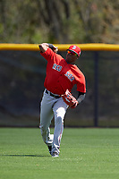 Boston Red Sox Luis Alexander Basabe (37) during practice before a minor league Spring Training game against the Tampa Bay Rays on March 23, 2016 at Charlotte Sports Park in Port Charlotte, Florida.  (Mike Janes/Four Seam Images)