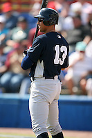 February 25, 2009:  Third baseman Alex Rodriguez (13) of the New York Yankees during a Spring Training game at Dunedin Stadium in Dunedin, FL.  The New York Yankees defeated the Toronto Blue Jays 6-1.   Photo by:  Mike Janes/Four Seam Images