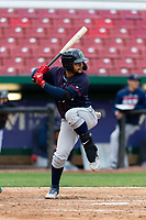 Cedar Rapids Kernels right fielder Gilberto Celestino (8) during a Midwest League game against the Kane County Cougars at Northwestern Medicine Field on April 28, 2019 in Geneva, Illinois. Cedar Rapids defeated Kane County 3-2 in game two of a doubleheader. (Zachary Lucy/Four Seam Images)
