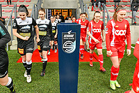 players entering the field pictured before a female soccer game between Standard Femina de Liege and Eendracht Aalst on the 12 th matchday of the 2020 - 2021 season of Belgian Scooore Womens Super League , saturday 30 th of January 2021 in Angleur , Belgium . PHOTO SPORTPIX.BE   SPP   STIJN AUDOOREN