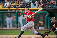 Patrick Kivlehan (27) of the Tacoma Rainiers at bat against the Salt Lake Bees in Pacific Coast League action at Smith's Ballpark on September 2, 2015 in Salt Lake City, Utah. Tacoma defeated Salt Lake 13-6. (Stephen Smith/Four Seam Images)