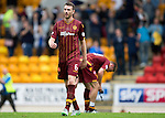 St Johnstone v Motherwell...22.08.15  SPFL   McDiarmid Park, Perth<br /> Stephen McManus walks of at full time<br /> Picture by Graeme Hart.<br /> Copyright Perthshire Picture Agency<br /> Tel: 01738 623350  Mobile: 07990 594431