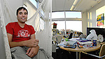 Digium founder Mark Spencer sits in hammock in his office.  Bob Gathany photo.