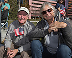 Pete and Becky during the Veterans Day Parade in downtown Reno on Saturday, Nov. 11, 2017.