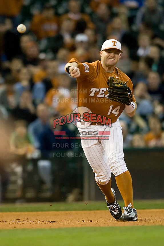NCAA Baseball featuring the Texas Longhorns against the Missouri Tigers. Lusson, Kyle 3586  at the 2010 Astros College Classic in Houston's Minute Maid Park on Sunday, March 7th, 2010. Photo by Andrew Woolley