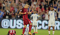 Orlando, FL - Friday Oct. 06, 2017: Bobby Wood during a 2018 FIFA World Cup Qualifier between the men's national teams of the United States (USA) and Panama (PAN) at Orlando City Stadium.