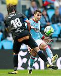 RC Celta de Vigo's Hugo Mallo (r) and Deportivo Alaves' Tomas Pina during La Liga match. September 10,2017. (ALTERPHOTOS/Acero)