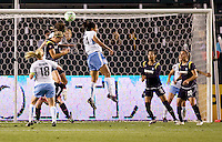 Red Stars defender Jill Oakes battles LA Sol's Allison Falk in the goal area. The LA Sol and the Red Stars of Chicago played to a 1-1 draw    at Home Depot Center stadium in Carson, California on Wednesday evening June 3, 2009.   .