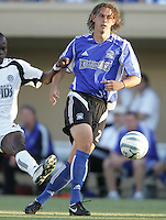 29 June 2005:  Kelly Gray of Earthquakes in action against Rapids at Spartan Stadium in San Jose, California.   Earthquakes defeated Rapids, 1-0.  Mandatory Credit: Michael Pimentel / ISI