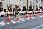 Feb. 27, 2010 - Tokyo, Japan - A runner is seen passing through the Ginza district as he hits the 35 kilometer mark during the Tokyo Marathon. Some 36,000 runners participated in this fifth edition of the marathon.