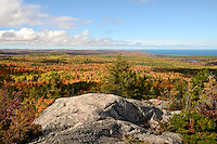 A beautiful fall day as the trees are peaking. View from Hogback Mountain. Marquette, MI