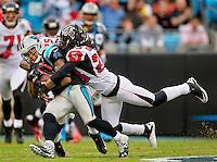 The Carolina Panthers vs. the Atlanta Falcons at Bank of America Stadium in Charlotte, North Carolina.Photos by: Patrick Schneider Photo.com