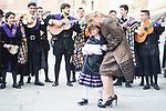 """Cristina Cifuentes with """"La Tuna"""" behind during award ceremony of literature in Spanish """"Miguel de Cervantes"""" at University of Alcala de Henares in Madrid., April 20, 2017. Spain.<br /> (ALTERPHOTOS/BorjaB.Hojas)"""