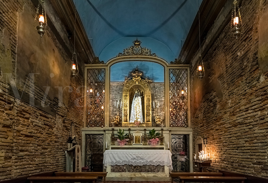 The Loreto chapel, Chiesa di San Sebastiano, Livorno, Tuscany, Italy.
