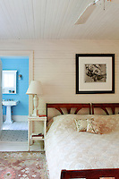 cottage style bedroom with bathroom