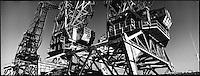 Europe/France/Provence-Alpes-Côte d'Azur/13/Bouches-du-Rhône/Marseille: Détail cabines des grues du  port de commerce
