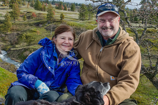 Pat, Tom and Scout at Catherine Creek, Columbia River Gorge, WA.  Feb 2016.