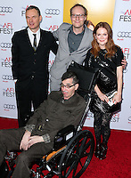 HOLLYWOOD, LOS ANGELES, CA, USA - NOVEMBER 12: Wash Westmoreland, Julianne Moore, Richard Glatzer arrives at the AFI FEST 2014 - 'Still Alice' Special Screening held at the Dolby Theatre on November 12, 2014 in Hollywood, Los Angeles, California, United States. (Photo by Xavier Collin/Celebrity Monitor)