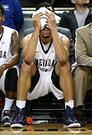 Nevada's AJ West takes a breather against Northwest Christian during a college basketball game in Reno, Nev., on Sunday, Dec. 28, 2014. Nevada won 81-67.<br /> Photo by Cathleen Allison