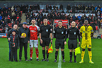 Fleetwood Town match ball sponsors during the Sky Bet League 1 match between Fleetwood Town and Burton Albion at Highbury Stadium, Fleetwood, England on 15 December 2018. Photo by Stephen Buckley / PRiME Media Images.