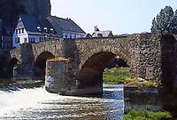 Runkel on the Lahn: Old Bridge, 15th century.