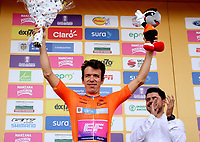 LLANOGRANDE - COLOMBIA, 14-02-2019: Rigoberto Urán (COL) Team EF Education First - DRAPAC es el nuevo líder general después de la tercera etapa del Tour Colombia 2.1 2019 con un recorrido de 167.6 Km, que se corrió en un circuito con salida y llegada en el Complex Llanogrande. / Rigoberto Uran (COL) Team EF Education First - DRAPAC is the new leader after  the third stage of the Tour Colombia 2.1 2019 with a distance of 167.6 km, which was run on a circuit with start and finish at the Complex Llanogrande. Photo: VizzorImage / Fedeciclismo Prensa / Cont.