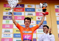 LLANOGRANDE - COLOMBIA, 14-02-2019: Rigoberto Urán (COL) Team EF Education First - DRAPAC es el nuevo líder general después de la tercera etapa del Tour Colombia 2.1 2019 con un recorrido de 167.6 Km, que se corrió en un circuito con salida y llegada en el Complex Llanogrande. / Rigoberto Uran (COL) Team EF Education First - DRAPAC is the new leader after  the third stage of the Tour Colombia 2.1 2019 with a distance of 167.6 km, which was run on a circuit with start and finish at the Complex Llanogrande. Photo: VizzorImage / Fedeciclismo Prensa / Cont.