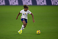 ORLANDO CITY, FL - FEBRUARY 18: Catarina Macario #11 prepares to shoot during a game between Canada and USWNT at Exploria stadium on February 18, 2021 in Orlando City, Florida.