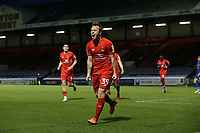 O's Danny JOhnson scores hat trick and celebrates during Leyton Orient vs Harrogate Town, Sky Bet EFL League 2 Football at The Breyer Group Stadium on 21st November 2020