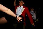 Drunk couple man falling over dancing Warwickshire Hunt Ball celebrating the end of fox hunting season Tysoe Manor, Warwickshire  UK.1982 1980s UK