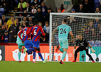 27th September 2021;  Selhurst Park, Crystal Palace, London, England; Premier League football, Crystal Palace versus Brighton & Hove Albion: Neal Maupay of Brighton lobs the goalkeeper to score his sides 1st goal in the 95th minute to make it 1-1