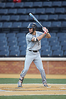 Alex Mardiney (31) of the Davidson Wildcats at bat against the Wake Forest Demon Deacons at David F. Couch Ballpark on May 7, 2019 in  Winston-Salem, North Carolina. The Demon Deacons defeated the Wildcats 11-8. (Brian Westerholt/Four Seam Images)