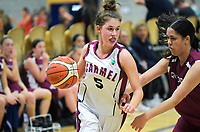 Action from the 2019 Schick AA Girls' Secondary Schools Basketball Premiership National Championship match between Carmel College and Rotorua Girls' High School at the Central Energy Trust Arena in Palmerston North, New Zealand on Monday, 30 September 2019. Photo: Dave Lintott / lintottphoto.co.nz