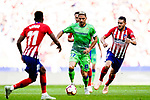 Joaquin Rodriguez of Real Betis (C) in action during the La Liga 2018-19 match between Atletico de Madrid and Real Betis at Wanda Metropolitano Stadium on October 07 2018 in Madrid, Spain. Photo by Diego Souto / Power Sport Images