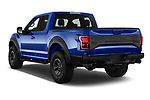 Car pictures of rear three quarter view of a 2018 Ford F-150 Raptor Select Doors Door Pick Up angular rear