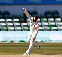 Jack Leaning bowls for Kent during Kent CCC vs Lancashire CCC, LV Insurance County Championship Group 3 Cricket at The Spitfire Ground on 23rd April 2021
