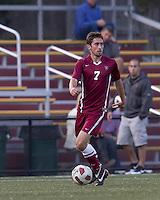 Harvard University midfielder Jamie Rees (7) looks to pass. Boston College defeated Harvard University, 2-0, at Newton Campus Field, October 11, 2011.