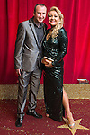 © Licensed to London News Pictures . 16/05/2015 .  The Palace Hotel , Manchester , UK . Andy Whyment and Lisa George . The red carpet at the 2015 British Soap Awards , The Palace Hotel , Oxford Road , Manchester . Photo credit : Joel Goodman/LNP