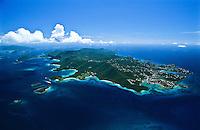 Aerial view of St.  John<br /> U.S. Virgin Islands
