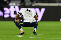 Ezri Konsa of Aston Villa At the Final Whistle  during West Ham United vs Aston Villa, Premier League Football at The London Stadium on 30th November 2020
