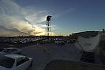 Sunset over Oaklawn Park in Hot Springs, Arkansas on February 17, 2014. (Credit Image: © Justin Manning/Eclipse/ZUMAPRESS.com)