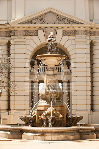 California, USA. fountain at the City Hall, Pasadena.