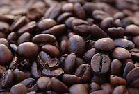 Cibi e bevande. Food and beverages..Chicchi di caffè. Coffee beans....