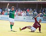 30.06.18 Linlithgow Rose v Hibs: Danny Swanson celebrates his goal