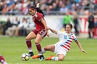 Houston, TX - Sunday April 08, 2018: Renae Cuéllar, Carli Lloyd during an International Friendly soccer match between the USWNT and Mexico at BBVA Compass Stadium.