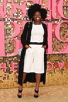 """Clara Amfo<br /> arrives for the World Premiere of """"Absolutely Fabulous: The Movie"""" at the Odeon Leicester Square, London.<br /> <br /> <br /> ©Ash Knotek  D3137  29/06/2016"""