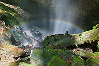 Rainbow on Rainbow Falls, White Oak Sink